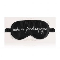 Katie Loxton Wake Me For Champagne Satin Eye Mask (black) KLS121
