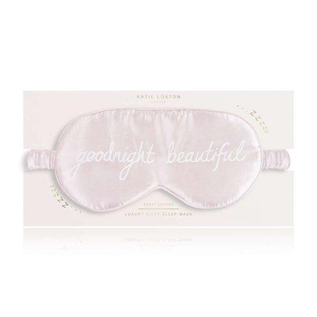 Katie Loxton Goodnight Beautiful Satin Eye Mask (pink) KLS122
