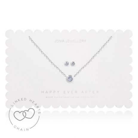 Joma Jewellery Happy Ever After Blue Earrings and Necklace Set 2491
