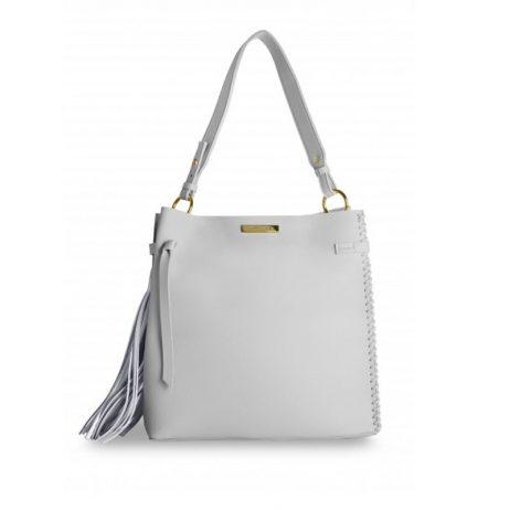 Katie Loxton Grey Florrie Tassel Handbag KLB313