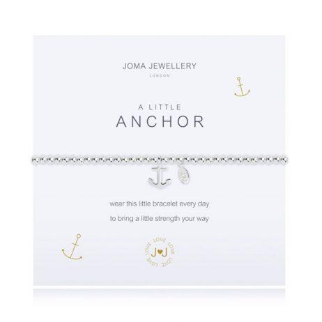 Joma Jewellery A Little Anchor Silver Bracelet 2076