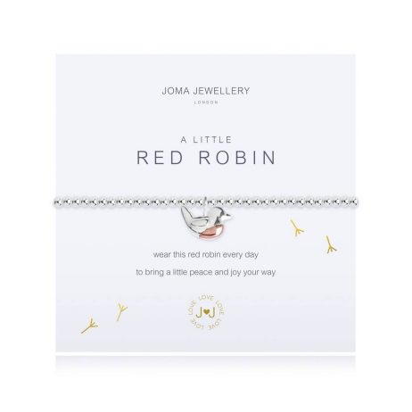 Joma Jewellery A Little Red Robin Bracelet 2659 EOL