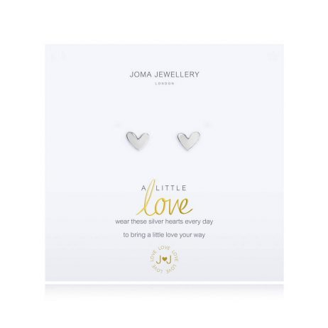 Joma Jewellery A Little Love Silver Heart Earrings 2694