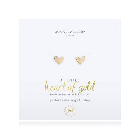 Joma Jewellery A Little Heart of Gold Earrings 2697