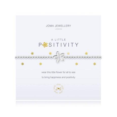 Joma Jewellery A Little Positivity Silver Bracelet 2703