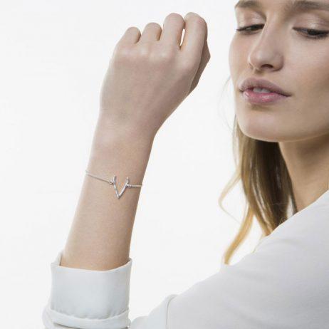 Tutti and Co Jewellery Wish Bracelet Silver