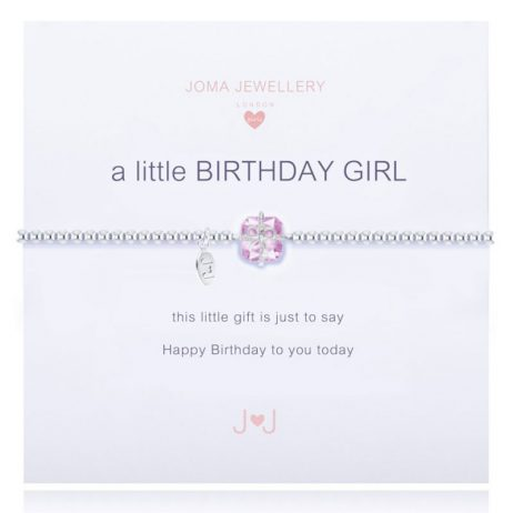 Joma Jewellery Girls A Little Birthday Girl Bracelet C111