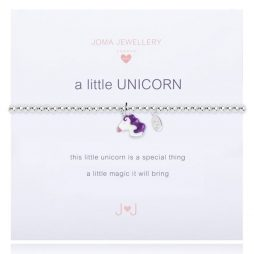Joma Jewellery Girls A Little Unicorn Silver Bracelet C357