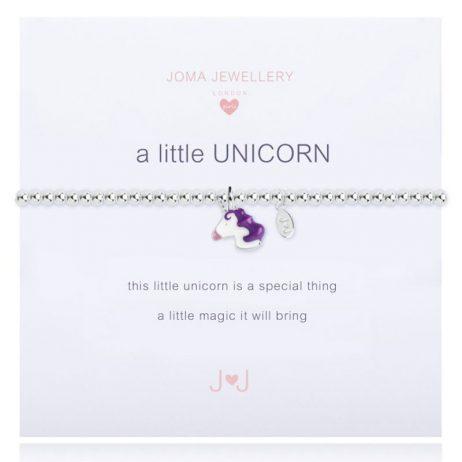 Joma Jewellery Girls A Little Unicorn Silver Bracelet C357