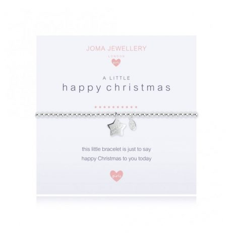 Joma Jewellery Girls A Little Happy Christmas (Personalise) Bracelet C405 - EOL