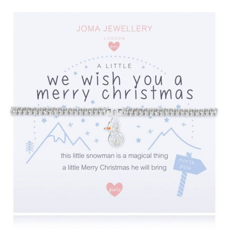 Joma Jewellery Girls A Little We Wish You A Merry Christmas Bracelet C427 - eol