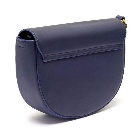 Estella Bartlett Navy Saddle Bag with Blush Bag Tag and Coin Charm