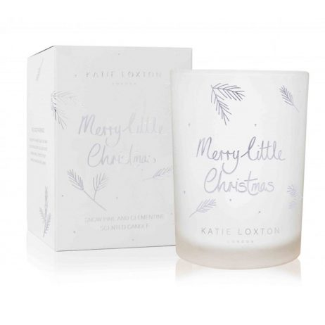 Katie Loxton Merry Little Christmas Candle (snowpine/clementine) KLC059 *