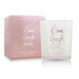 Katie Loxton Live Laugh Love Candle (grapefruit/pink peony) KLC065
