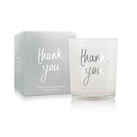 Katie Loxton Thank You (orange/mango) Candle KLC068