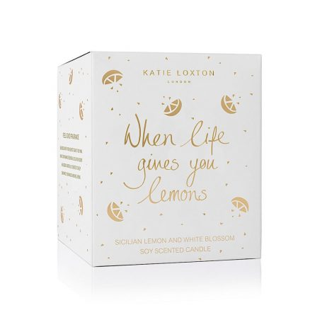 Katie Loxton When Life Gives You Lemons Icon Candle KLC070