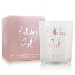 Katie Loxton Birthday Girl Candle (champagne/strawberry) KLC090