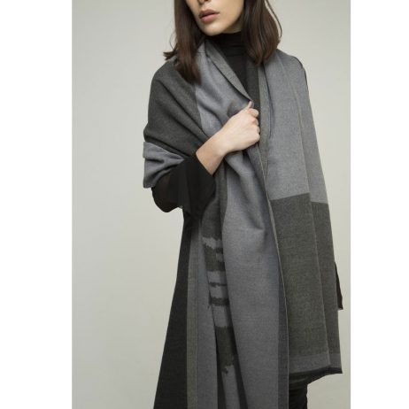 Tutti and Co Allure Charcoal Scarf