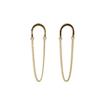 Tutti and Co Jewellery Arc Earrings Gold