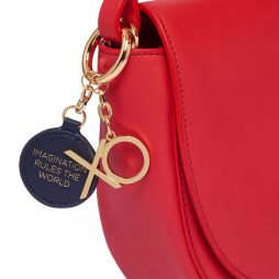 Estella Bartlett Red Bag with Navy Bag Tag and XO Charm EBP3265