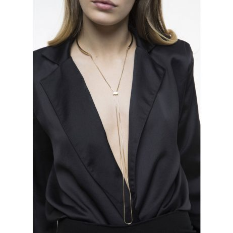 Tutti and Co Jewellery Concave Necklace Gold