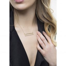 Tutti and Co Jewellery Linear Necklace Gold
