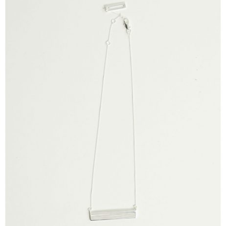Tutti and Co Jewellery Linear Necklace Silver