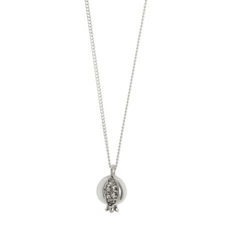 Hultquist Jewellery Pomegranate Silver Plated Necklace with Crystals