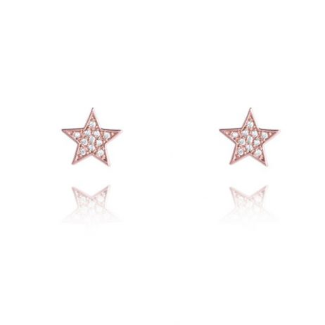 Joma Jewellery Rose Gold CZ Star Florence Stud Earrings 2349