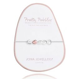 Joma Jewellery Pretty Pebbles Silver Bracelet with Rose Gold Element 2447