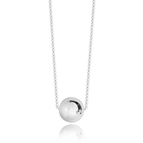 Joma Jewellery Orb Sphere Silver Necklace 2859