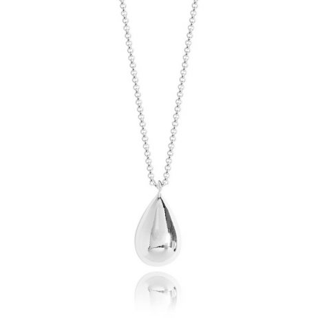 Joma Jewellery Orb Teardrop Silver Necklace 2861