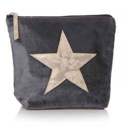 Shruti Designs Ta Da Silver Grey Star Cosmetic Wash Bag