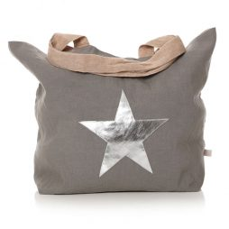 Shruti Designs Grey Star Burst Cotton Shopper Bag