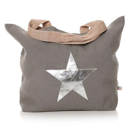 Shruti Designs Grey Star Burst Cotton Shopper Bag