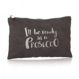 Shruti Designs Ta Da Prosecco Grey and Silver Pouch