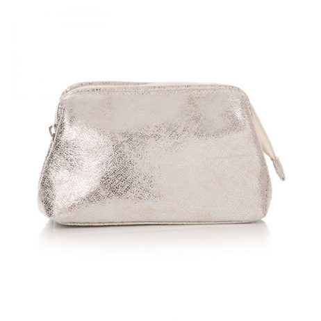 Shruti Designs Ta Da Metallic Silver Make-up Bag
