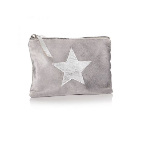 Shruti Designs Ta Da Grey Silver Star Purse