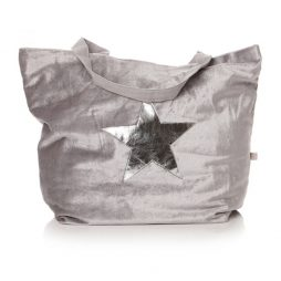 Shruti Designs Ta Da Dove Grey Silver Star Shopper Bag