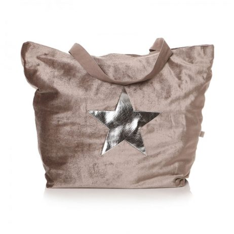 Shruti Designs Ta Da Beige Silver Star Shopper Bag