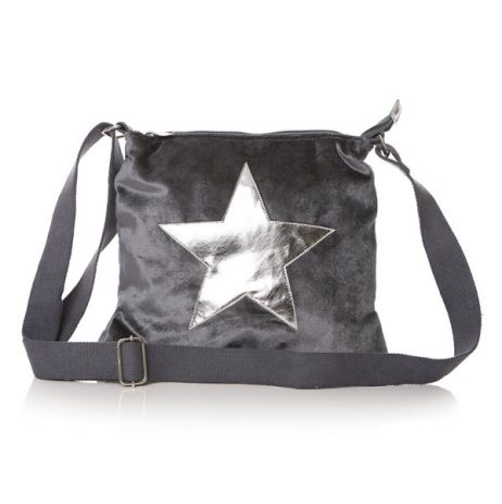 Shruti Designs Ta Da Charcoal Grey Crossbody Star Bag - EOL