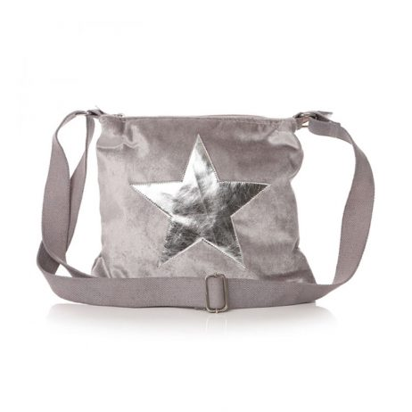 Shruti Designs Ta Da Dove Grey Crossbody Star Bag - eol