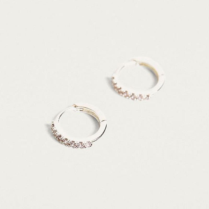 8892a22e4f8cf Estella Bartlett Hoop Earrings with CZ Silver Plated EB1956