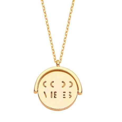 Estella Bartlett Good Vibes Gold Plated Necklace EB3185C