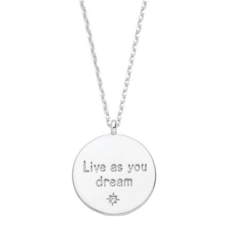 Estella Bartlett Live As You Dream Silver Plated Necklace EB3188C