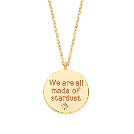 Estella Bartlett We are all made of Stardust Gold Plated Necklace EB3189C