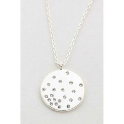 Estella Bartlett CZ Diffusion Silver Plated Necklace EB3191C