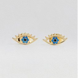 Estella Bartlett Gold Plated Eye Stud Earrings EB3204