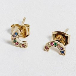 Estella Bartlett Rainbow Gold Plated Stud Earrings EB3214