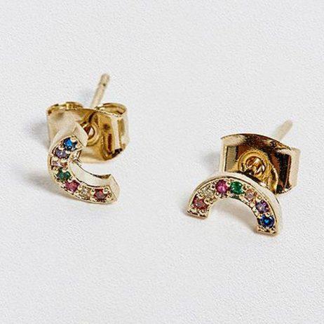 Estella Bartlett Rainbow Gold Plated Stud Earrings EB3214